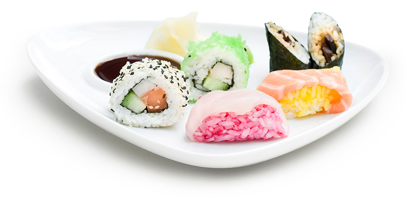Gemischter Sushi-Teller