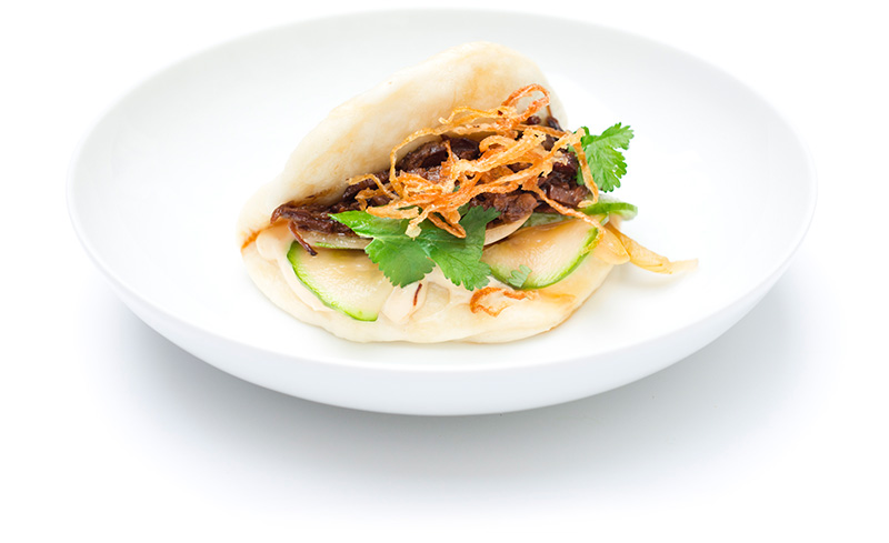 Steamed Buns mit Rinderbrust