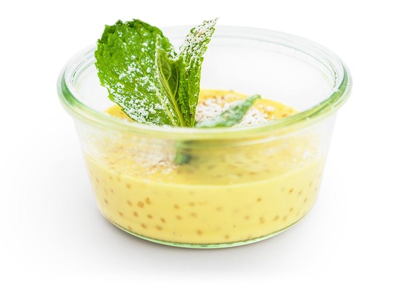Tapioka-Mango Pudding